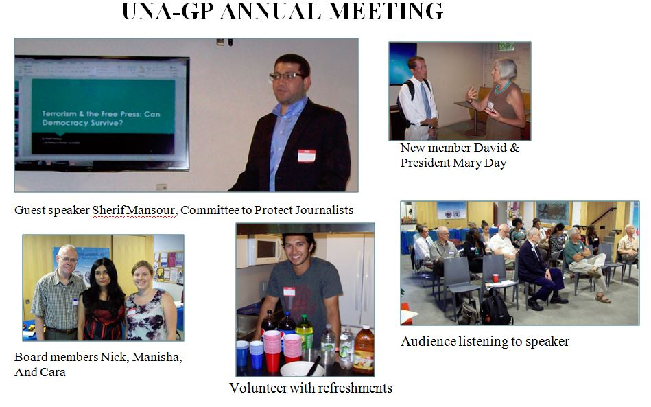 UNA-GP Annual meeting 2015 Collage