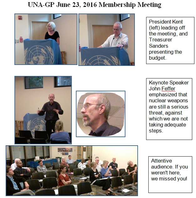 UNA-GP Membership Meeting 6-23-16